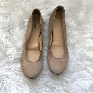 J. Crew Anya Suede Ballet Flats - Saddle